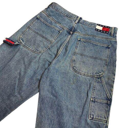 Vintage 90s TOMMY JEANS Baggy Wide Leg Carpenter S