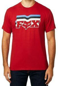FOX-Mens-T-Shirt-Red-Medium-M-Far-Out-Logo-Short-Sleeve-Graphic-Tee-Crewneck-242