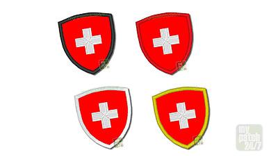 Aufnäher Patch Badge SCHWEIZ SUISSE SVIZZERA HELVETIA CHF Flagge gestickt 7,5cm