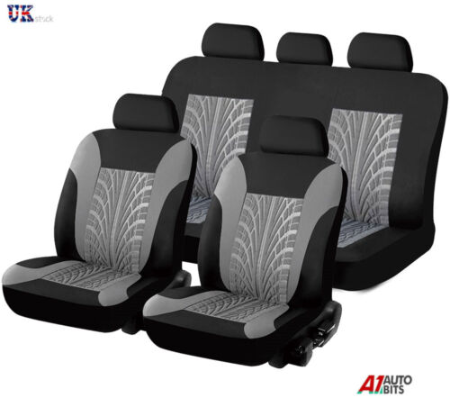 Para Renault Clio Megane Laguna Scenic Completo Seat Covers Set Protector Gris