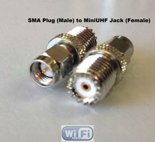 1 x SMA Male Plug to Mini-UHF Female Jack RF Coax Adapter Connector Converter US
