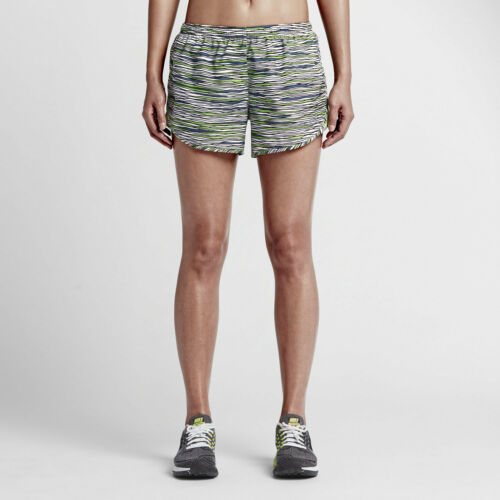 NIKE DRI FIT EQUILIBRIUM TEMPO WOMEN/'S RUNNING SHORTS WHITE//GREEN # 723944-NWT