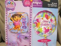 Birthday Party Balloon - Size Xl (18 In) Foil Balloon Dora+birthday