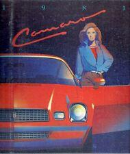 Chevrolet Camaro 1981 USA Market Sales Brochure Sport Coupe Berlinetta Z28