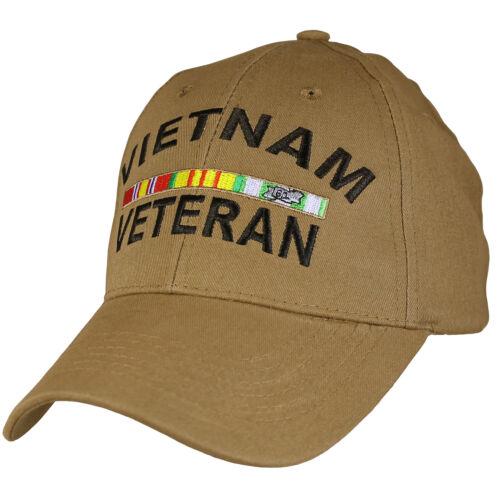Vietnam Veteran With Ribbons CYB Military Hat  Baseball Cap