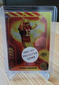 2021 Elements Football Aaron Rodgers NUCLEAR SSP Metal Card CASE HIT