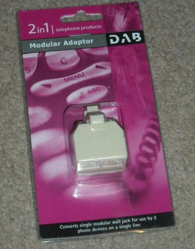 2 IN 1 Modular Phone Telephone Adapter NEW