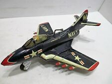 COUGAR F9F FIGHTER JET FRICTION SPARKING MOTOR AND FOLDING WINGS WITH ROCKETS