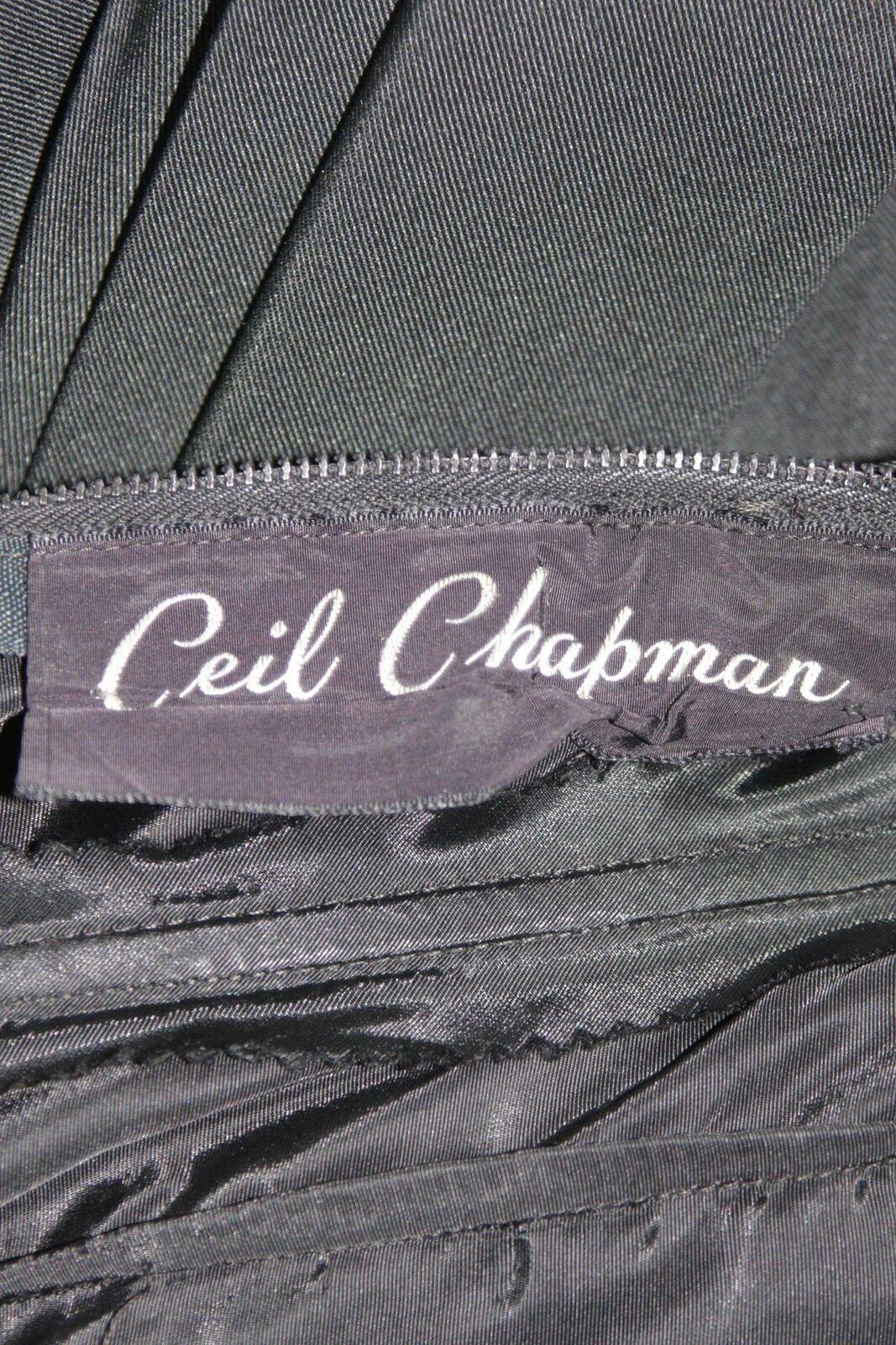 CEIL CHAPMAN 1950s Black Draped Cocktail Dress Si… - image 10