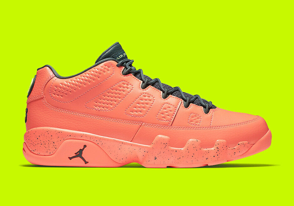 Nike Air Jordan 9 IX Low Bright Mango Hasta Ghost Green 832822-805 Mens 15 shoes