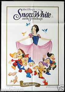 SNOW-WHITE-AND-THE-SEVEN-DWARFS-Rare-Australian-ONE-SHEET-Movie-poster-1987r