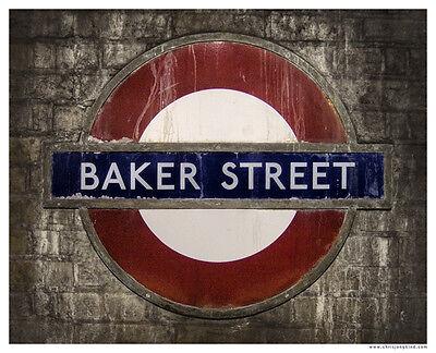 LONDON UK Underground King/'s Cross Tube Roundel Sign poster//print