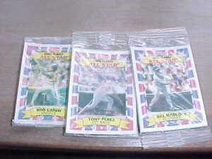 1992 Kelloggs Corn Flakes All Star Baseball Card Sealed Lot