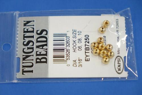 Tungsten Beads  Ø 4,6mm Gold Schwarz Kupfer Silber 10 Beads//Farbe Wapsi Tungsten