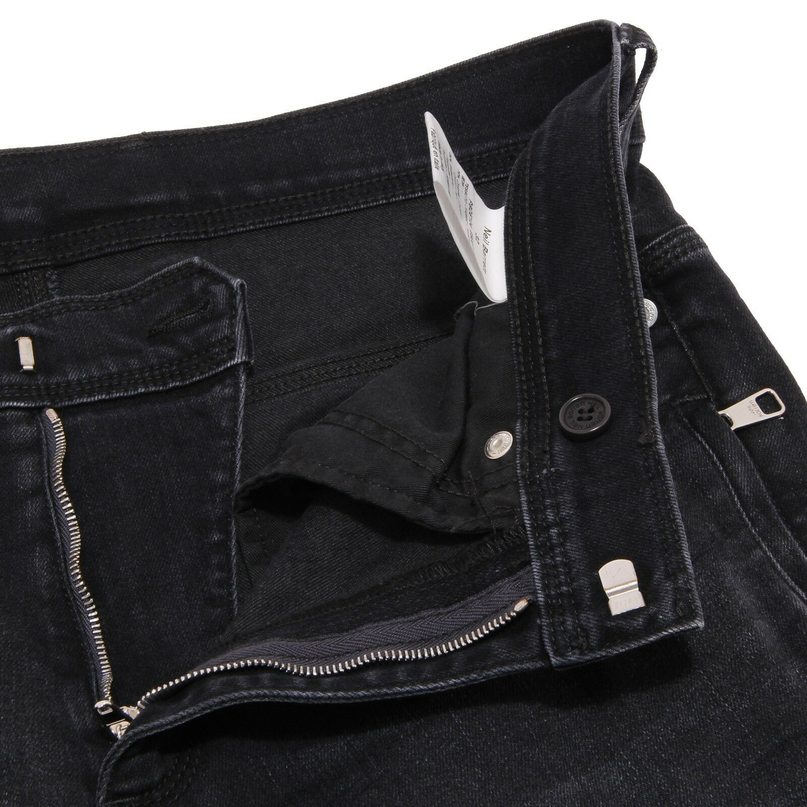 1788W jeans uomo NEIL BARRETT nero denim trouser pant man man man fb7408