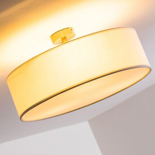 Deckenleuchte Deckenlampe Deckenstrahler Lampe Deckenleuchten Stoff weiss 50 cm