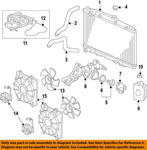 Astonishing Honda Oem Radiator Cooling Fan Blade 38611Rl8A01 Ebay Wiring Digital Resources Ntnesshebarightsorg