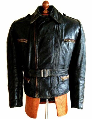 Vtg Leather 40s WW2 GERMAN HORSEHIDE LUFTWAFFE Har