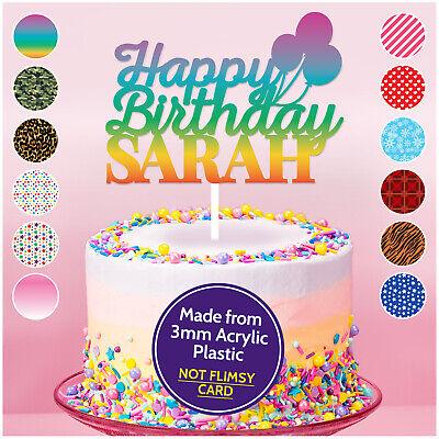 Custom Cake Topper Buon Compleanno Qualsiasi Nome Personalizzato Decorazione Personalizzati-mostra Il Titolo Originale