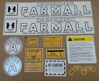 Farmall Super A Decal Set. All Decals On Tractor. Excellent Quality Mylar.