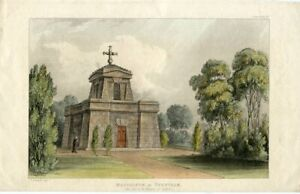 Mausoleum-At-Trentham-Lithography-By-T-Gendall-IN-1824-Coloured-Hand