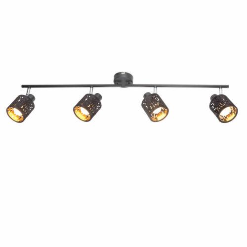 Wand Lampe Decken Spot Rondell Samt Stanzung Balken Leuchte verstellbar GOLD