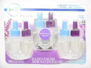 Febreze Plug in Air Fresheners, Mediterranean Lavender, Scented Oil Refill (3ct)