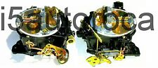 SET OF 2 MARINE CARBURETORS ROCHESTER 4BBL QUADRAJET 4MV 4.3 L 262 V6 MERCRUISER