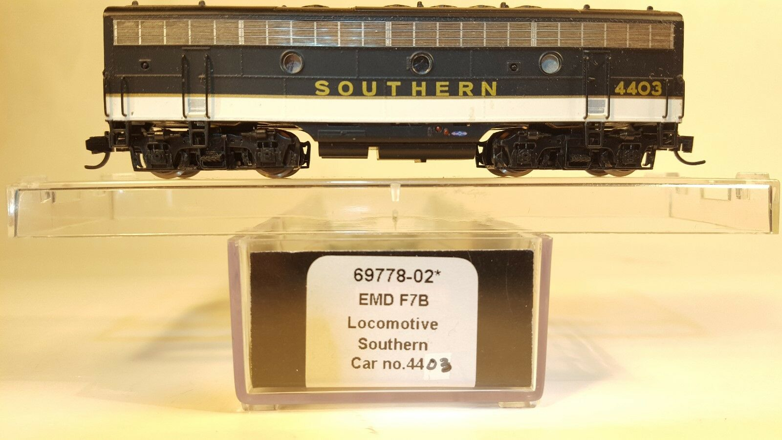 N InterMountain Southern 69778-02 F7B Powered Loco (DCC Ready) (Tested)
