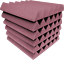 Acoustic-Foam-48-Pack-12x12x2-Wedge-Rosy-BEIGE-Professional-Studio-Soundproofing thumbnail 3