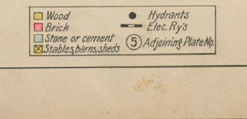 SALEM COMMON HOWARD CEMETERY 1911 SALEM MASSACHUSETTS COPY PLAT ATLAS MAP
