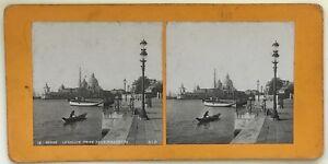Venezia Italia Foto P39L8n1 Stereo Stereoview Vintage Analogica