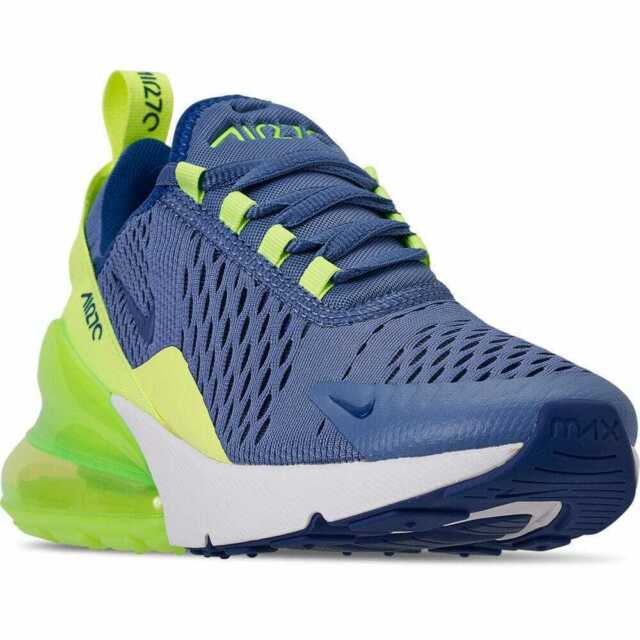 Women's NIKE AIR MAX 270 NEON GREEN BLUE WHITE RUNNING 943345 406 Size 6.5Y New