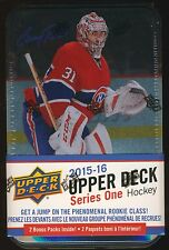 2015-16 Upper Deck Series 1 Hockey SEALED 12-pack TIN BOX Jumbo + 3 Young Guns!*