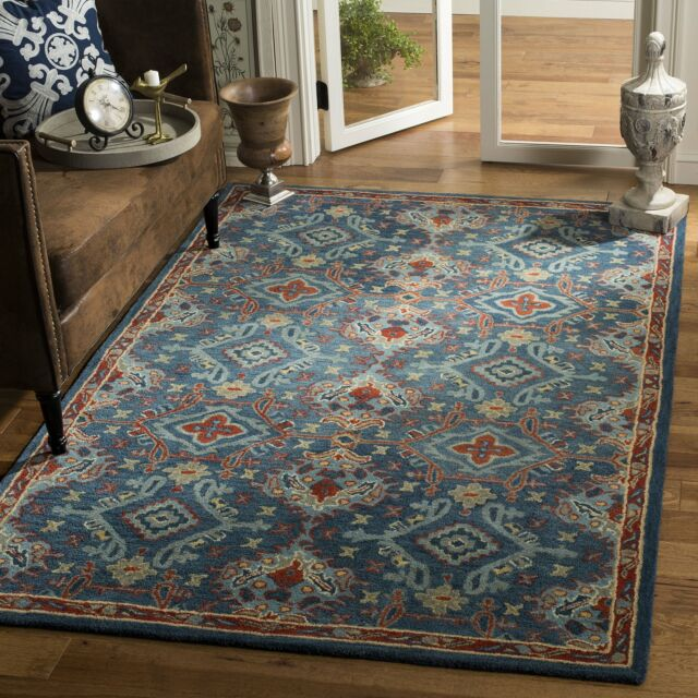 Safavieh Hg422m 8 Heritage Collection Blue And Multi Premium Wool Area Rug 8