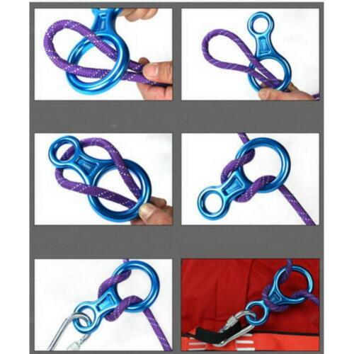 35KN Figure 8 Rappel Belay Device Abseiling Tree Arborist Safety Equipment
