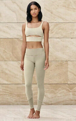 Alo Yoga High Waist Sueded Lounge Legging Sandstone Wash Size Small Bnwt Ebay