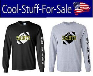 Image is loading New-Orleans-Saints-Football-Long-Sleeve-Shirt 7f15c1015
