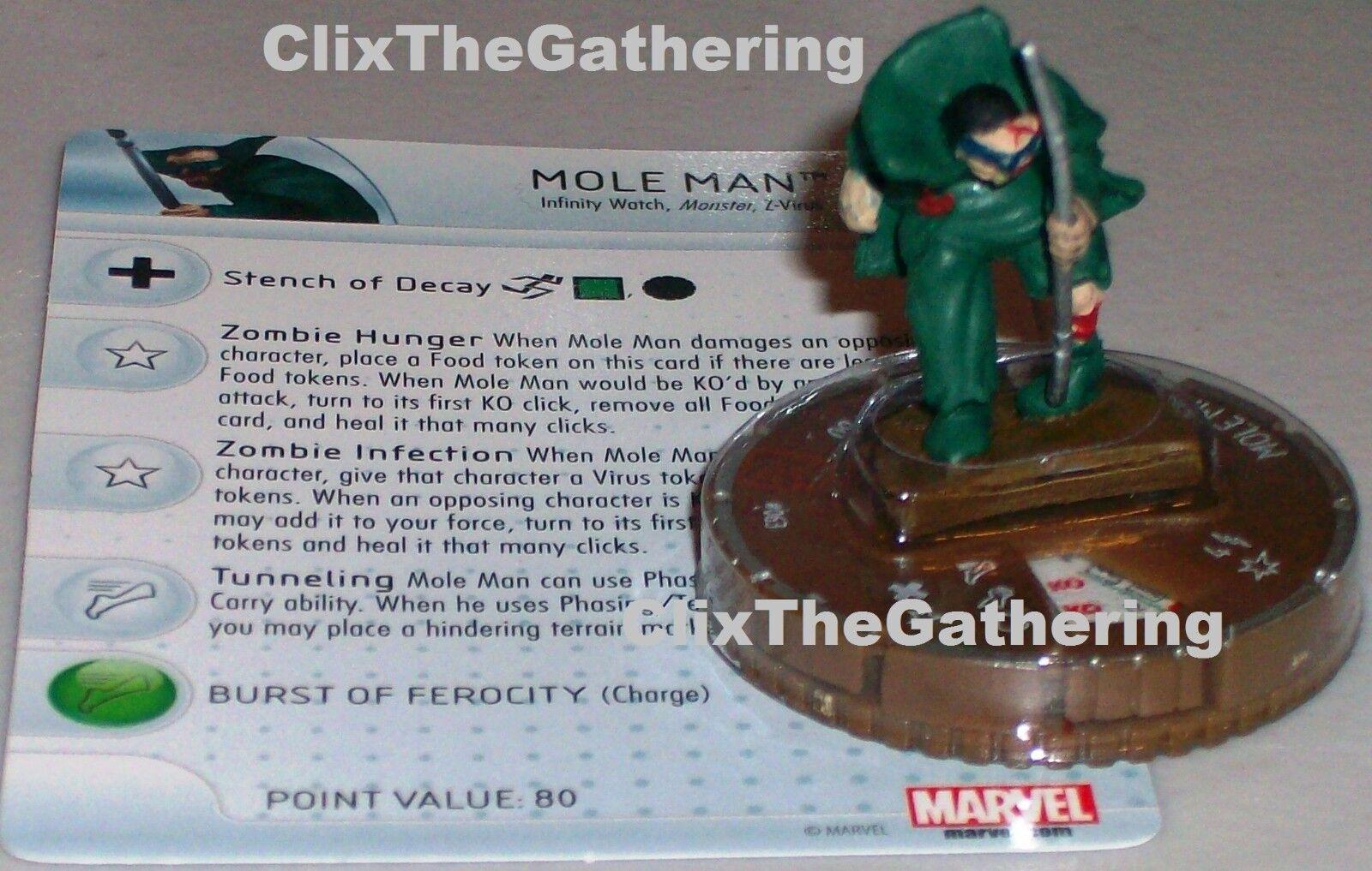 Mole Man  Zombie   063 Guardiani Della Galassia Marvel Heroclix Chase Raro