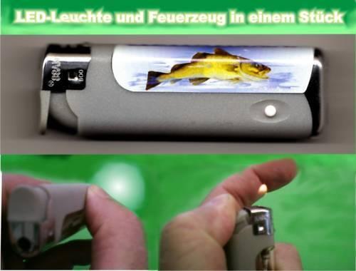 LED-Leuchte Feuerzeug Angler Fisch Dorsch