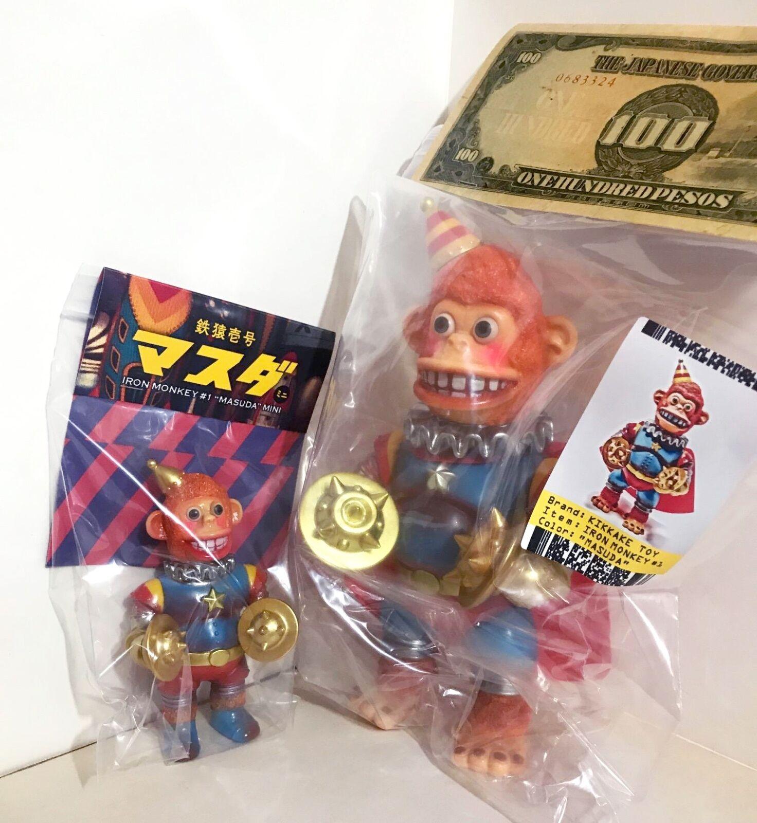 KIKKAKE leksak IRON MONKEY nr.1 & MINI MASUDA SET Sofubi japan kaiju
