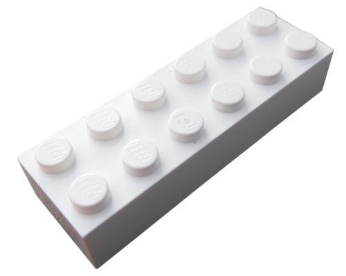 Basics City Baustein Neu 2456 Lego 50 Stück weiße Steine 2x6 Stein in weiss