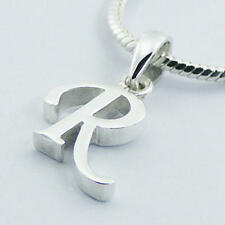 USA Seller Letter R Pendant Sterling Silver 925 Best Deal Plain Jewelry Gift