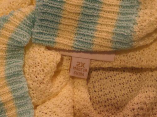 NWOT MidTown Mixer in Buttercup Sz 2X Women/'s Sweater light Yellow Mint READ