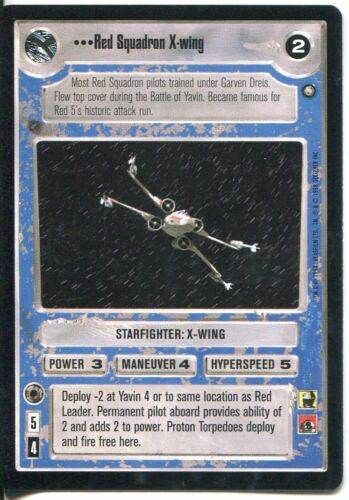 Star Wars CCG Official Tournament Sealed Deck Red Squadron X Wing