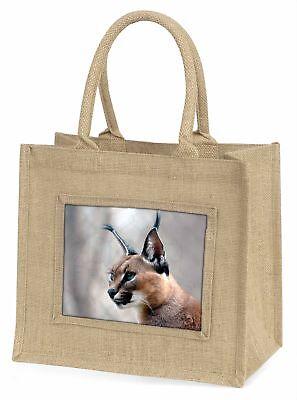 Lynx Caracal Große natürliche jute-einkaufstasche Weihnachten
