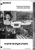Sony Dcr-sx45 Dcr-sx65 Dcr-sx85 Camcorder Operating Guide Manual