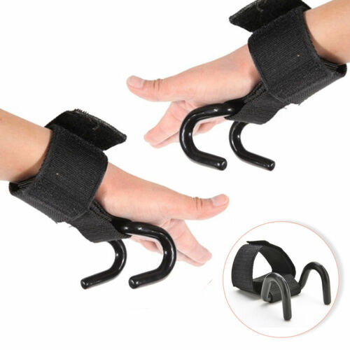 Weight Lifting Hook Grip Straps Gloves Training Wrist Support Dumbbell Wrap GYM