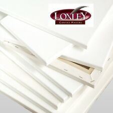 White Loxley 40 x 30-inch Deep 36 mm Edge Ashgate Chunky Stretched Artists Canvas