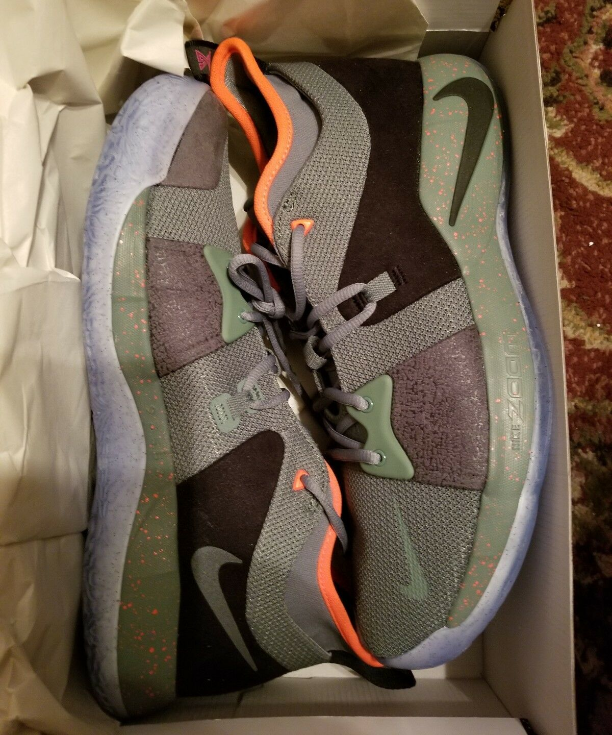 Nike PG 2 Palmdale All Star Clay Green Black AO1750-300 Men's sz 14 NEW shoes